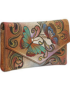 Checkbook Wallet: Henna Butterfly by Anuschka
