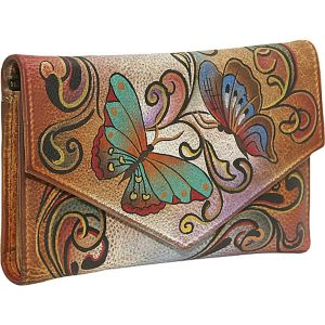 Checkbook Wallet: Henna Butterfly
