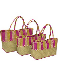 Nested Straw Totes by Earth Axxessories