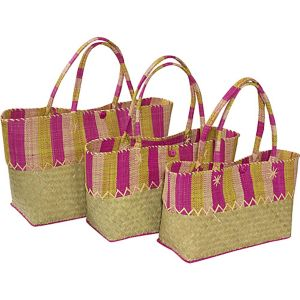 Nested Straw Totes