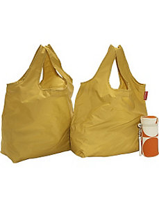GoGo Green Shopping Bag Kit: Orange Circle by Soapbox Bags