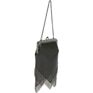Vintage-Look Chain Fringe Bag