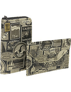 New Travel Print Travel Wallet and Photo Holder by Sydney Love