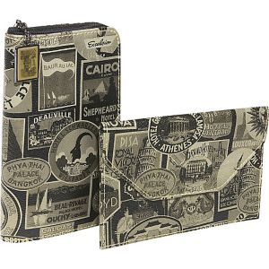 New Travel Print Travel Wallet and Photo Holder