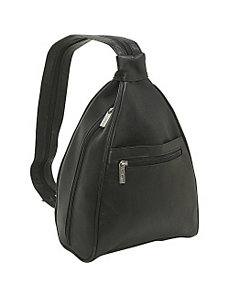 Womens Sling Back Pack by Le Donne Leather