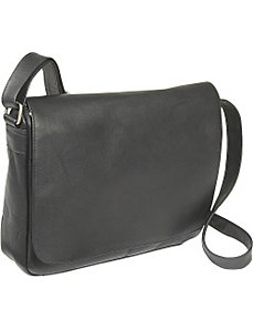 Flap Over Shoulder Bag by Le Donne Leather