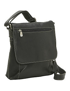 Vertical Flap Over Bag by Le Donne Leather