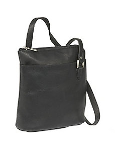 L-Zip Shoulder Bag by Le Donne Leather