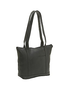 Double Strap Pocket Tote by Le Donne Leather