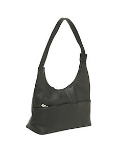Front Zip Hobo by Le Donne Leather