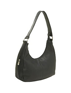 Single Handle Side Zip Hobo by Le Donne Leather