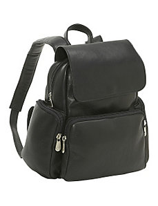 Women's Multi Pocket Back Pack Purse by Le Donne Leather