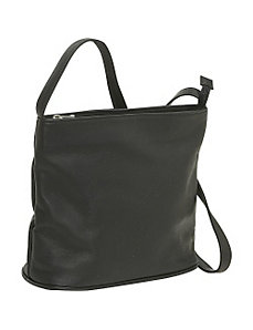 Zip Top Shoulder Bag by Le Donne Leather