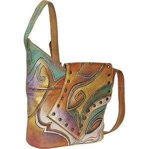 Abstract Flap Bag-Abstract Sunset