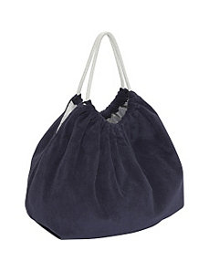 Solid Terry Bag with Rope Trim by Echo