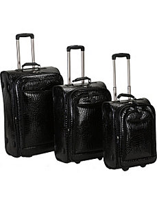 Crocodile 3 Piece Luggage Set by Rockland Luggage