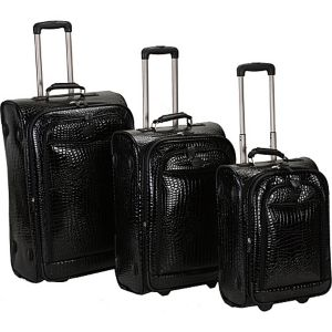 Crocodile 3 Piece Luggage Set