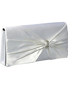 Pleated Satin Evening Bag by Coloriffics Handbags