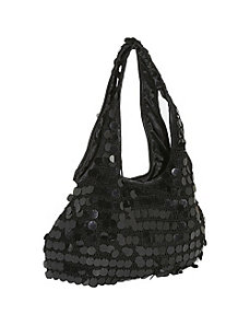 Sequin Disk Knit Hobo by Prezzo