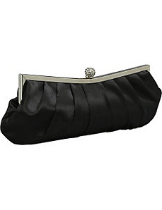 Pleated Satin Clutch by J. Furmani