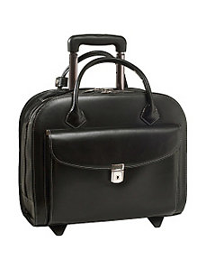 Granville Leather 15.4' Wheeled Ladies' Laptop Case by McKlein USA