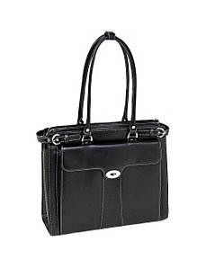 Quincy Leather 15.4' Ladies' Briefcase by McKlein USA