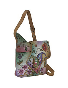 Abstract Flap Bag-Wild Hibiscus by Anuschka