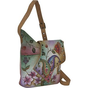 Abstract Flap Bag-Wild Hibiscus