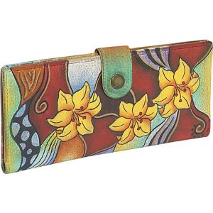 Ladies Two Fold Wallet: Tribal Lily