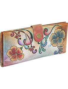 Ladies Two Fold Wallet: Henna Floral by Anuschka