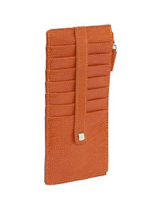 Lizard Print Credit Card Stacker Wallet by Budd Leather