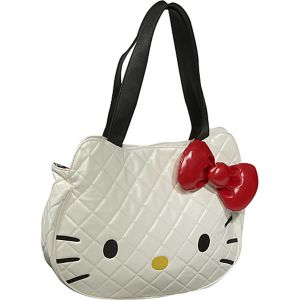 Hello Kitty White Quilted Face Bag