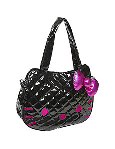 Hello Kitty Black Quilted Face Bag by Loungefly