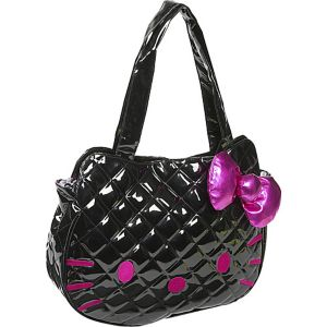 Hello Kitty Black Quilted Face Bag
