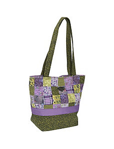 Large Patched Tote  Grape Patch by Donna Sharp