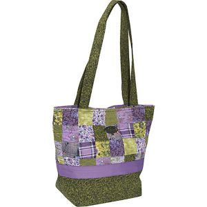 Large Patched Tote Grape Patch