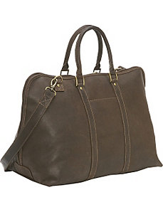 Distressed Leather Getaway Duffel by Le Donne Leather