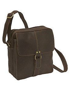 Distressed Leather Men's Bag by Le Donne Leather