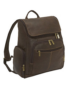 Distressed Leather Computer Backpack by Le Donne Leather