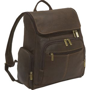 Distressed Leather Computer Backpack