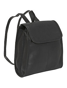 Womens 3 Compartment Back Pack by Le Donne Leather