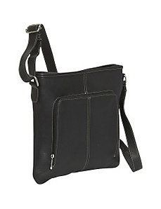 Drop Down Pocket Crossbody by Le Donne Leather