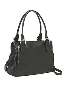Square Top Zip Handbag by Derek Alexander Leather