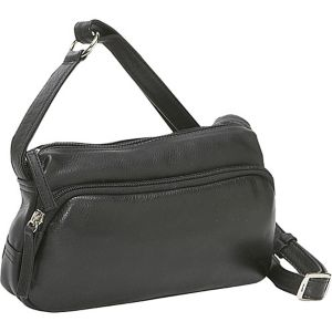 Small Twin Top Zip Handbag