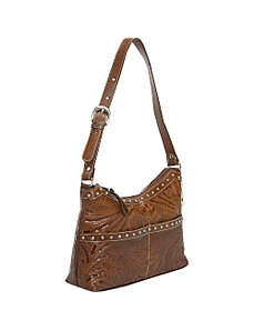 Heartland Zip -Top Shoulder Bag by American West