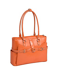 W Series Willow Springs Leather Ladies' Briefcase by McKlein USA