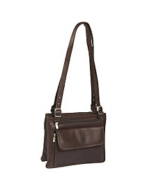 Double Compartment Shoulder Bag by Piel