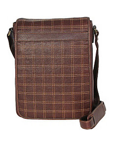 Cross Stitch Vert. Messenger by Dr. Koffer Fine Leather Accessories