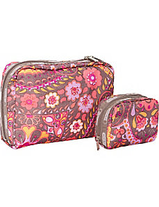 XL Cosmetic and Square Cosmetic Combo by LeSportsac