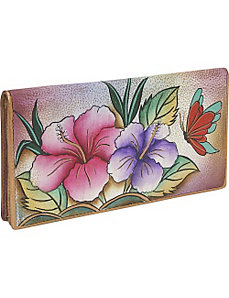Ladies 2 Fold Slim Wallet - Hawaiian Hibiscus by Anuschka